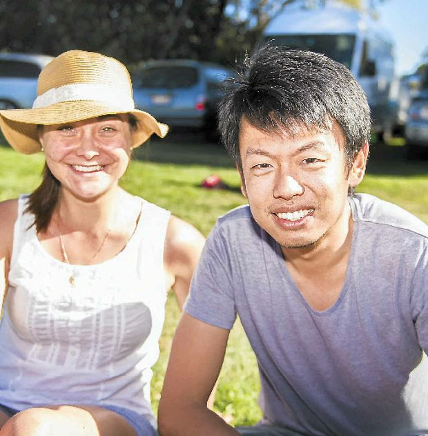 Bernadette Miller-Greenman and Shi Ping Sia at the Gladstone Multicultural Festival.