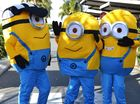 Despicable Me minions run around Mackay