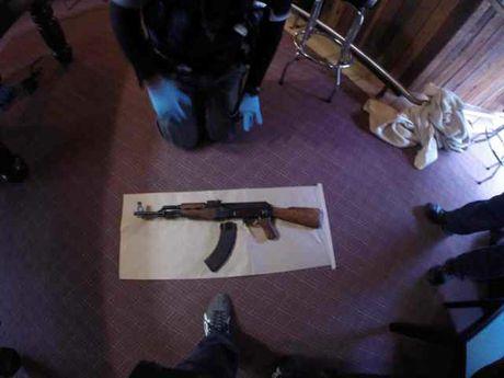 A semi-automatic AK47 replica found by police. Photo: Queensland Police Service