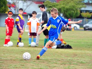 A selection of photos taken at a junior soccer clinic with Brisbane Roar's Shane Stefanutto at Martens Oval on 16 August, 2014.