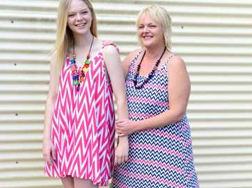 Danielle Ryan and her mum Kerry Ryan model fashion from Rellz Clothing & Giftlines, Gracemere.