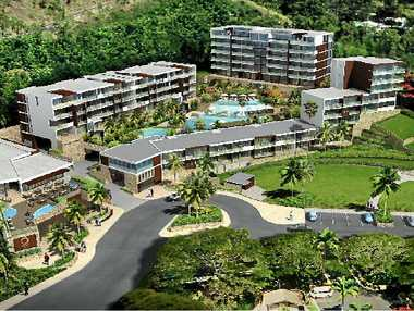LUXURY: An artist's impression of the $70 million resort to be built on Shingley Drive.