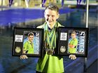 YOUNG Gladstone swimmer Thomas Crossley has returned from the Australian schools swimming championships with four medals to his name.