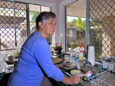 NO RELIEF: Pam Handley, 75, is on the point of exhaustion as she struggles to look after her severely disabled children with inadequate assistance from DSQ.