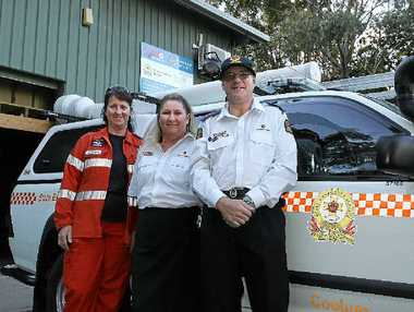 STEP UP: Sandra Mitchell, Shelley Foxwell and Brett Mitchell want more volunteers to join the SES.