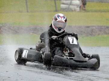 Young karters took to the track for the August race meet of the Lismore Kart Club.