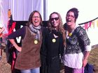 JOY OF LIFE: Laughter yogis Clare Deale, Ally Redding and Jennifer Winfield