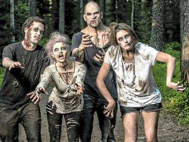 """THE CHOICE IS YOURS: You can choose to be a human or become a human-chasing """"zombie"""" for the Great Zombie Escape at Byfield on November 15."""