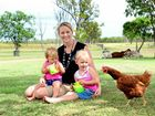 INSPIRATION: Krystal Caton has been named as a finalist in the AusMumpreneur awards for her Zestio food pouches. Her biggest fans are her two girls, Aria, 17 months, and Sienna, 3.