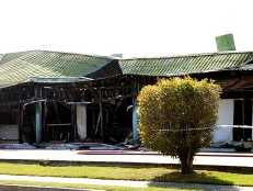 Scene of the fire at the Andergrove Central Plaza. Police are still investigating.