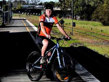 RIDING HIGH: The Northern Rivers Rail Trail supporter Tony Keogh is very keen to see the initiative gain support and become a major part of the Northern Rivers region.