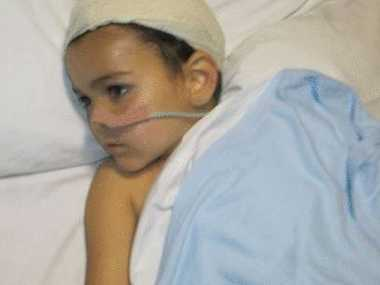 "Ashya King in hospital. UK Police have ""serious concerns"" for his life."