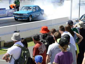 There was no shortage of thrills and spills at the Willowbank Raceway Jamboree on Saturday.