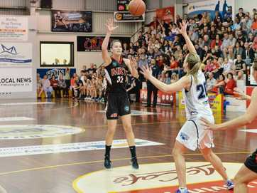 Action from QBL Women's Grand Final Basketball in Mackay, August 30, 2014.