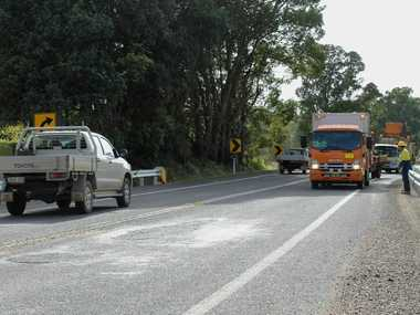 Despite Roads and Maritime Services recently finishing the $2.76 million upgrade to a section of Bangalow Rd at Stony Ridge, it is already filled with hasty pothole repairs.
