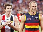 RETIRING stars Ben Rutten and Lenny Hayes had mixed fortunes as both finished off their careers at Adelaide Oval.
