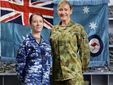 The air force is turning blue but it has nothing to do with their mood. Air force personnel at RAAF Base Amberley are the first to be fitted out with the new general purpose uniform.