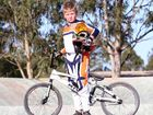 RIDING a BMX up steep hills is 11-year-old AnthonyNyburg's idea of fun.