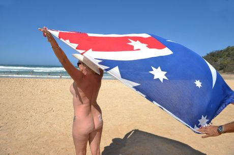 Nudist day at Alexandra Beach. FILE