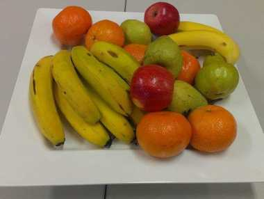 A work-provided fruit bowl is one perk of the modern office.