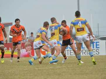 Action from Mackay District Rugby League Grand Final 2014.