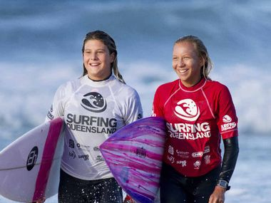 TOP CONTENDERS: Noosa's Vittoria Farmer and Coolum's Jaleesa Vincent will be out to impress at the final leg of the Queensland titles this weekend.