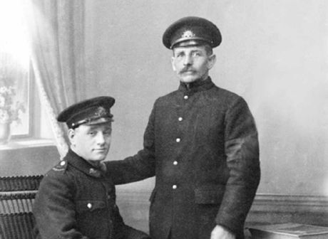 POWs Private Herbert Tharme and Rockhampton's Pte Peter Lorenzen.