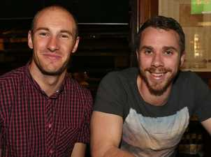 L-R Chris Pollock and Greg Muller at the Criterion Hotel. Photo Liam Fahey / Morning Bulletin