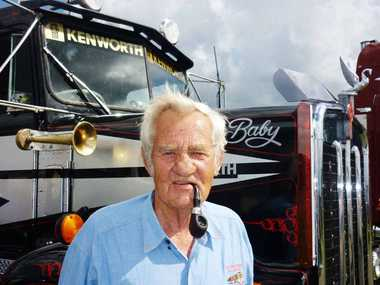 CASINO TRUCK SHOW: Andy Soutar with his restored 1973 Kenworth KW 925-S3.