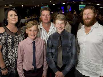 Players and supporters celebrate South West Queensland Thunder's season.