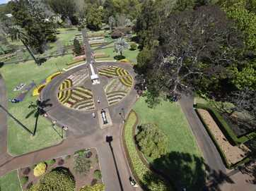 Queens Park during the 2014 Toowoomba Carnival of Flowers