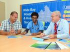 QLD FIRST: Wide Bay Hospital and Health Service Chief Executive Adrian Pennington, Dr Sreevarna Narasimhareddy and Dr Greg Coffey discuss Workplace Based Assessment for International Medical Graduates, a first for Queensland. Photo: Max Fleet / NewsMail