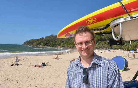 ACCOMMODATION CALL: Tourism Australia CEO John O'Sullivan on Main Beach at Noosa.