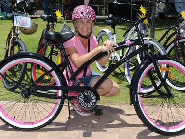 Michelle Lennard with one of her Beach n Cruisers bikes.