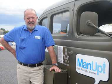 Lang Kilby with his 1942 Dodge on the Manup tour.