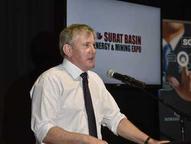 Member for Groom Ian Macfarlane at the Launch of the 2015 Energy & Mining Expo.