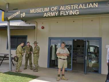 Australian Army Flying Museum in Oakey (pictured) and the Milne Bay Military Museum have been closed indefinitely due to the country's rising terror threat level.
