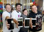 Apple devotees line up for flash new model