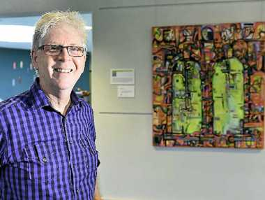 ON SHOW: CQUniversity today opens its CQUni Creates exhibition. Geoff Head is one of the exhibitors.