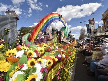 The Woolworths Toowoomba Wizard of Oz themed float proved a crowd favourite in the Grand Central Floral Parade.