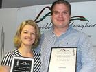 IT WAS appropriate that Erik Leinius flashed his pearly whites at the Alstonville Wollongbar Chamber of Commerce Business and Community awards presentation.