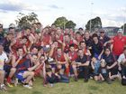 THE Warwick Credit Union Redbacks created history with a 12-point grand final win against the USQ Cougars in the Darling Downs first-division grand final.