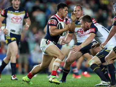Roger Tuivasa Sheck during the NRL semi-final between the Sydney Roosters and the North Queensland Cowboys at Allianz Stadium, in Sydney, Friday, Sept. 19, 2014.