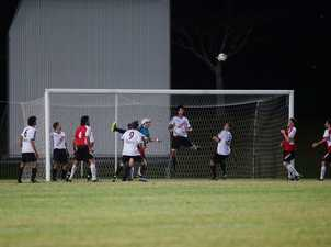A missed goal at the Mens Premier Division Byron vs Richmond Rovers, final at Oaks Oval in Lismore 2014.