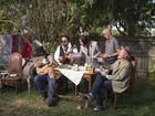 THE party band returns to our shores after their Gympie Muster debut last year. The reunited Grammy winners are working on a new album.