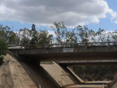 Lockyer Valley Regional Council want the State Government to give Grantham access to the Warrego Highway. Shown is the Philps Rd underpass near the site of the proposed Gatton West Industrial Zone.