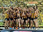 HAWTHORN has won successive premierships for the first time since 1989, annihilating the Sydney Swans by 63 points at the MCG yesterday.
