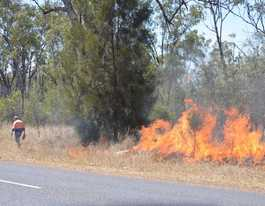 Controlled burn at Banksia Beach