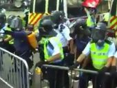 Video appears to show police brutality at protests in Hong Kong demanding voting rights