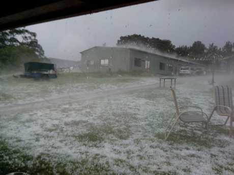 A freak hailstorm at The Channon on Sunday, September 28.